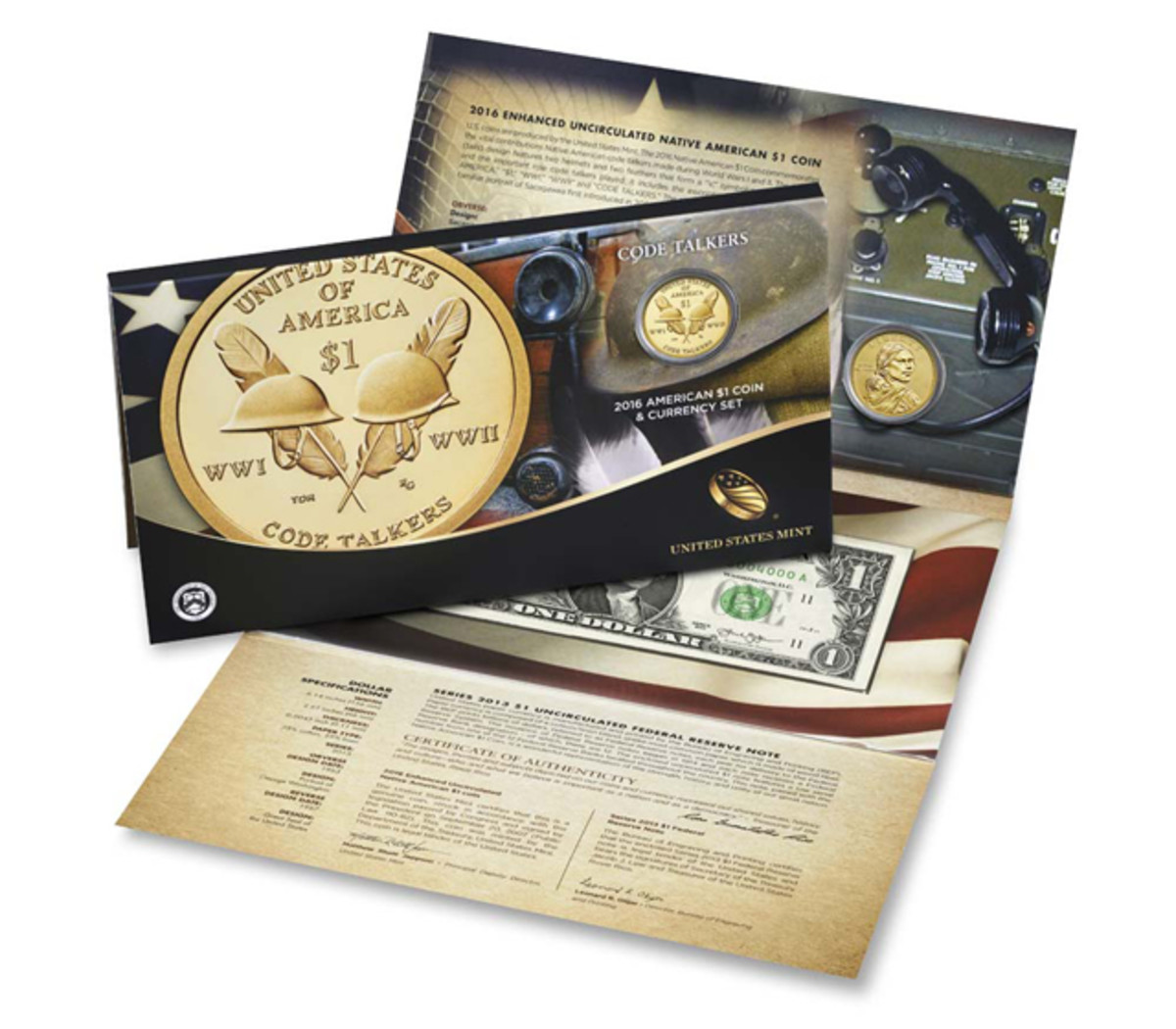 The 2016 Native American Dollar Coin and Currency set.