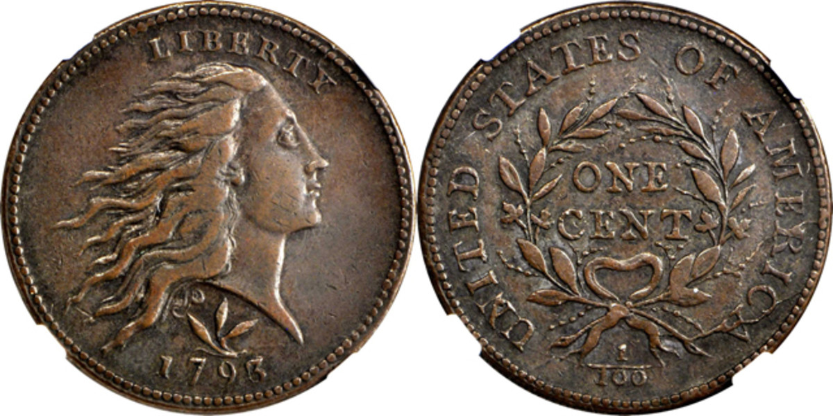 This 1793 Flowing Hair cent boldly went where no cent had gone before. Images courtesy Stack's Bowers.