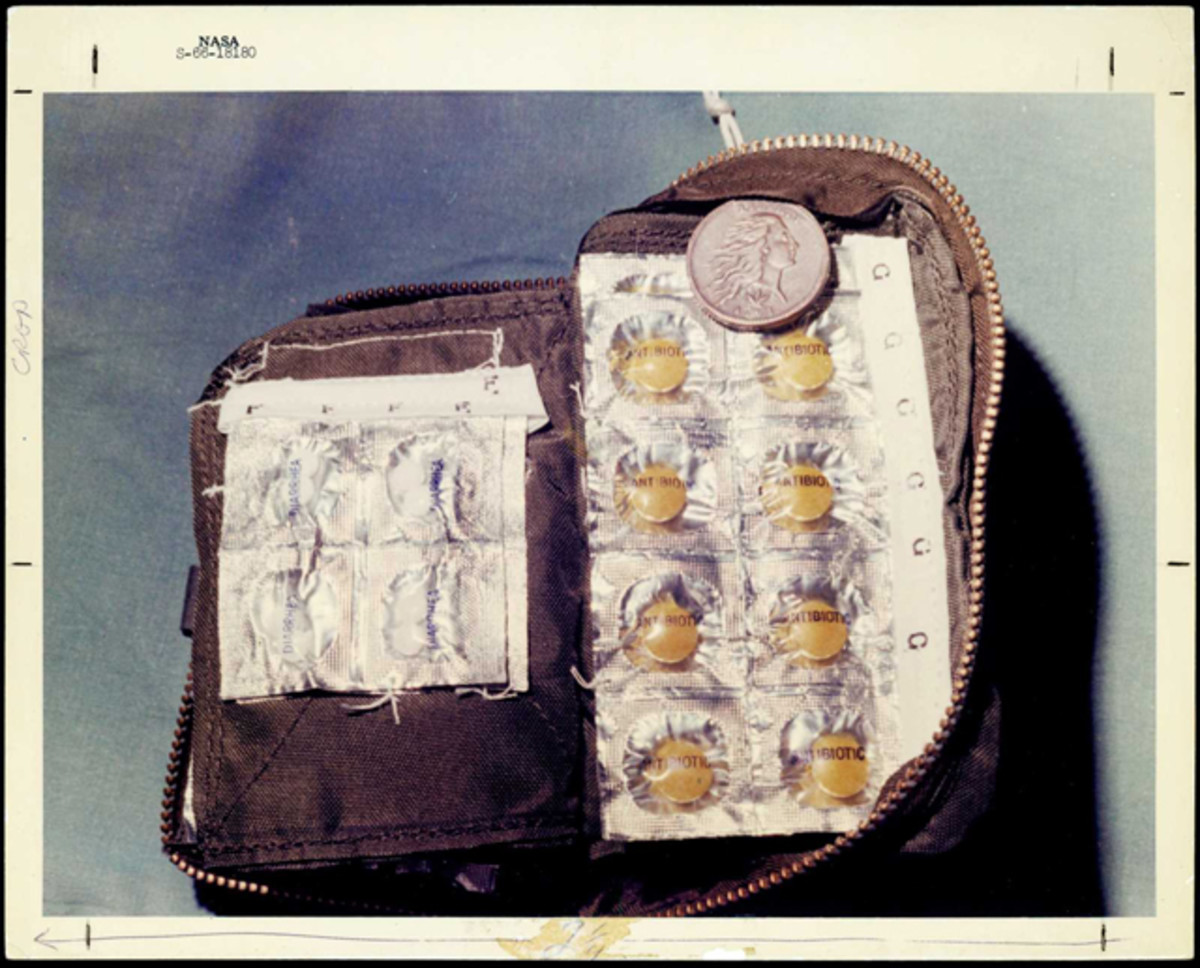 Gemini VII's inflight medical kit doubled as a space suit for the 1793 cent when it orbited the planet 206 times. It has now been sold Stack's Bowers for $82,250. Image courtesy Stack's Bowers.