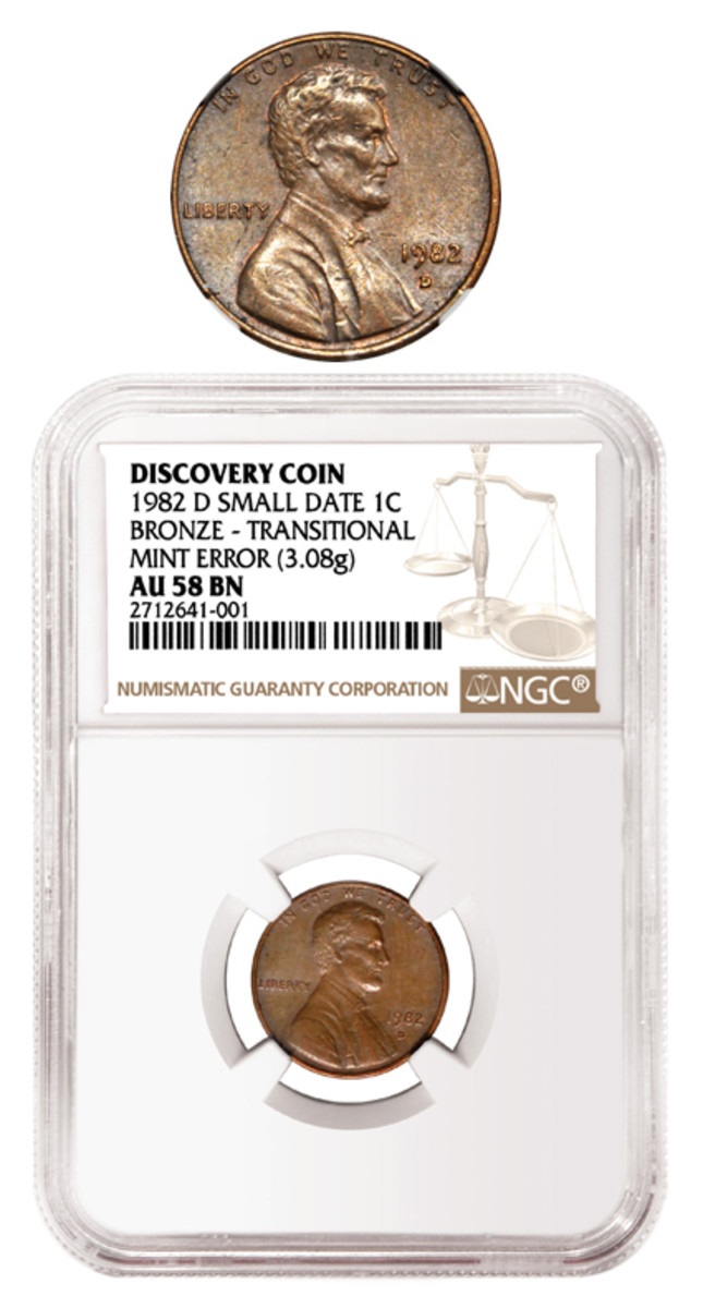 How high will the price go for a one-of-a-kind 1982-D Small Date cent struck on a copper planchet?