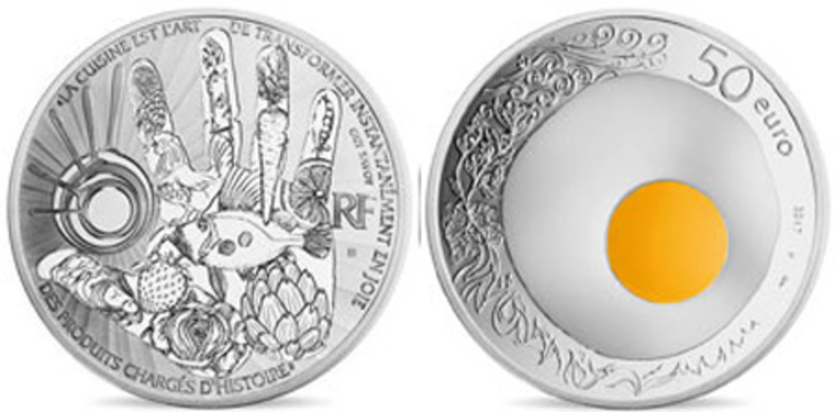 Best Silver Coin and Coin of the Year — Monnaie de Paris — 50 Euro, Silver — French Excellence - Guy Savoy