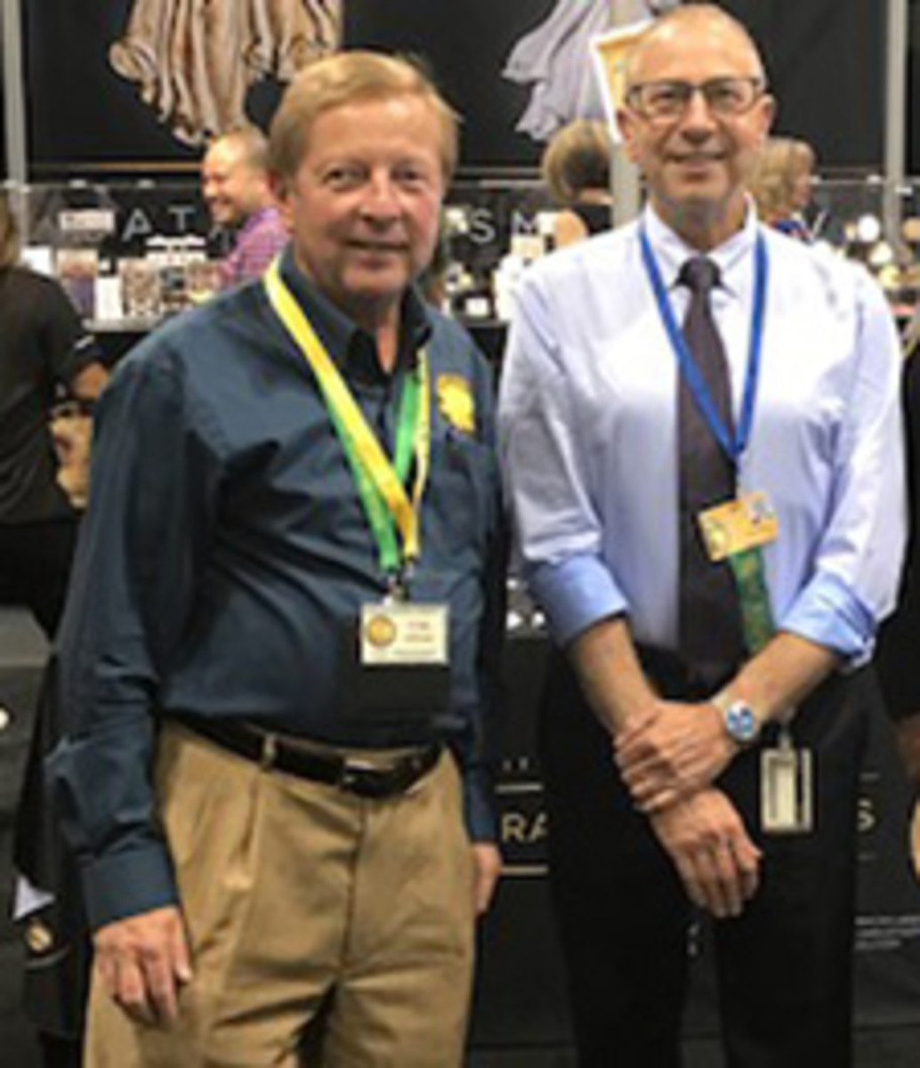 Pennsylvania Association of Numismatists President Tom Uram, left, will host Greg Weinman at the PAN show in May.