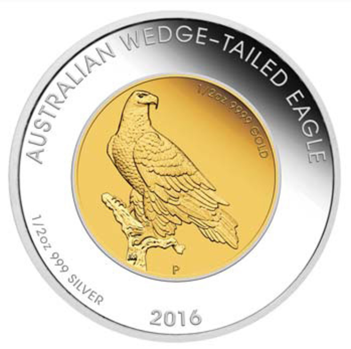 A perched eagle designed by John Mercanti appears on new Perth Mint coin issues.