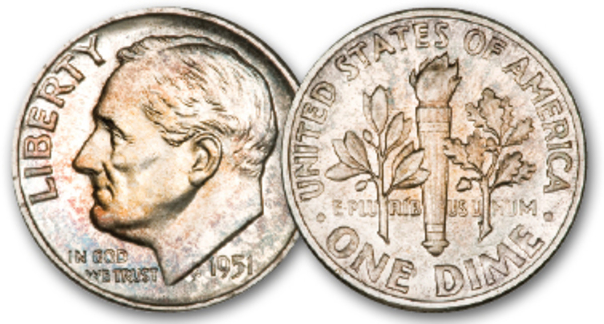 In 1951, 570,500 proof Roosevelt dimes were minted.