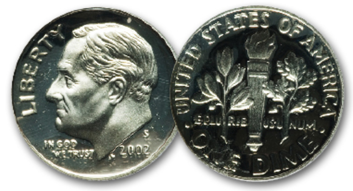More than 2.3 million proofs dimes were struck in 2002.