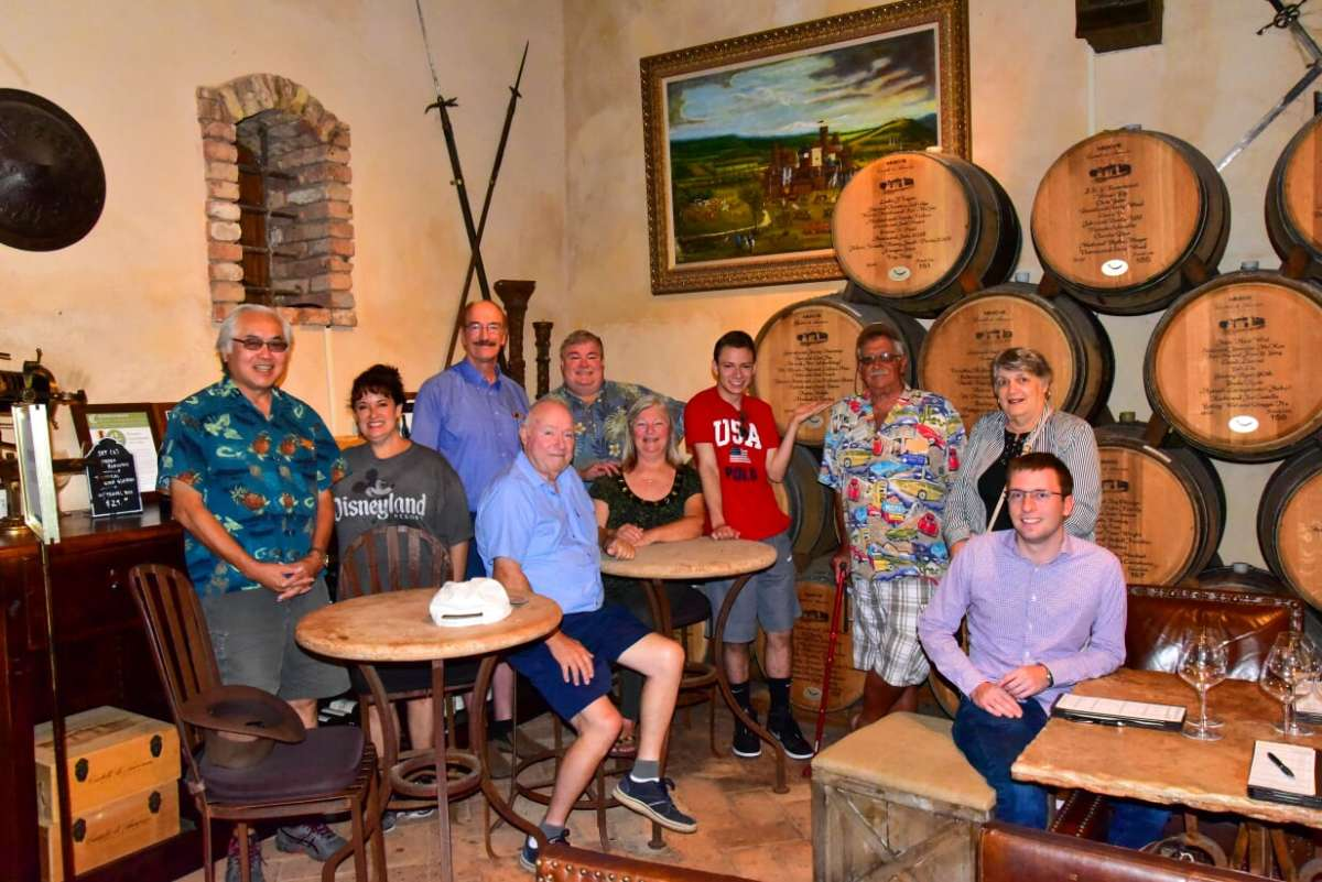 All Smiles! With a pre-Forum visit and tour in the famous Napa Valley, are (left to right,) Lloyd G. Chan, Rose Malvini, Jeff Shevlin, Geoff Bell, Alexander Chamberlain, Cecilia Shevlin, Matthew L. Malvini, Michael S. Turrini, Sylvia Bell, and Kyle W. Lubke.