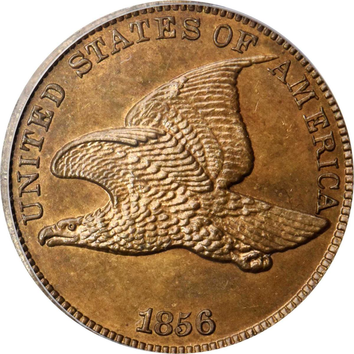 Shown is the 1856 Flying Eagle Cent. Snow-9. Proof-65 (PCGS) being offered at the 2019 Baltimore Expo. (Image courtesy of Stack's Bowers.)