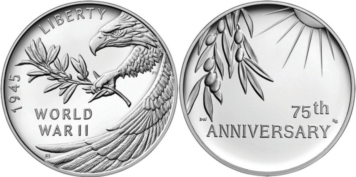 End of WWII commemorative silver medal from the U.S. Mint
