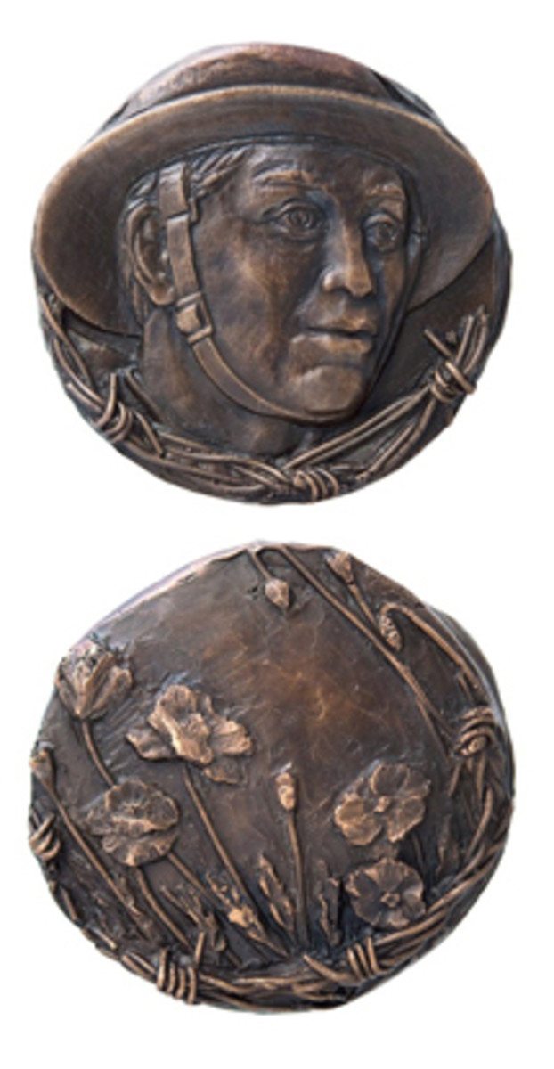 Prize-winning medal honoring veterans of World War I was done by Susan Taylor.