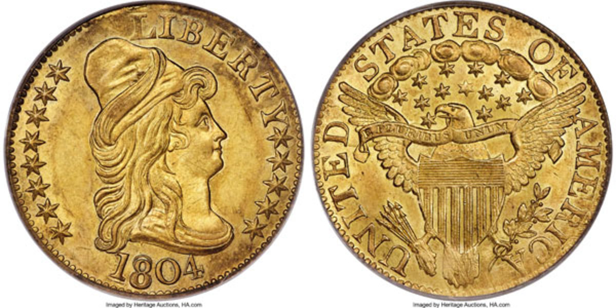 1804 Small Over Large $5 coin