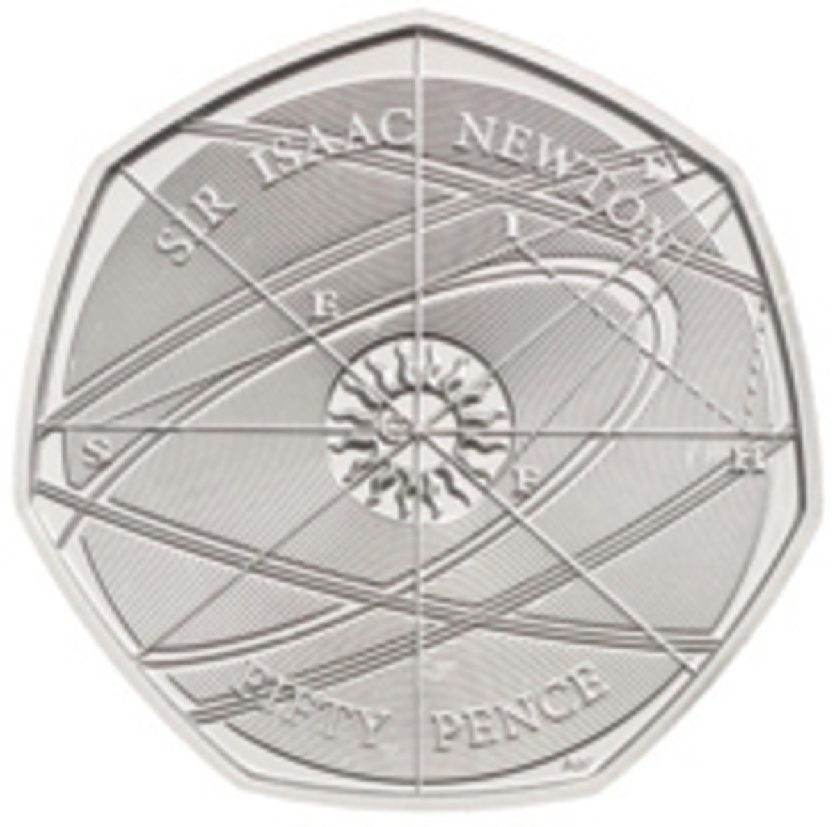 Only visitors to the British Royal Mint can acquire a 2018 Sir Isaac Newton British 50-pence coin.