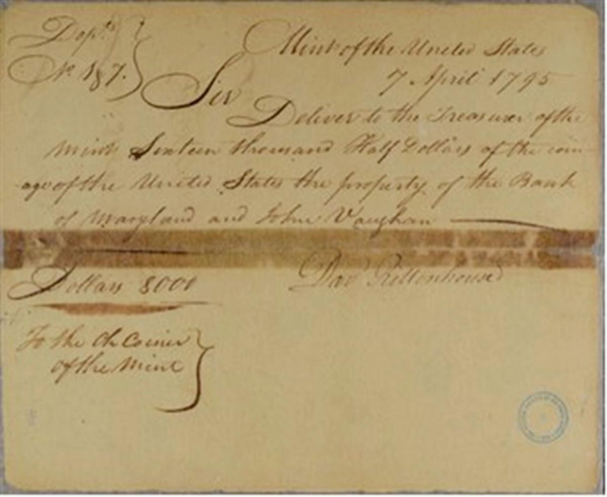 Figure 3 – April 7, 1795: Exchange Delivery Warrant