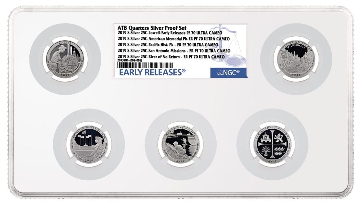 The new Large Multi-Coin holder can hold up to six coins. Image courtesy of NGC.