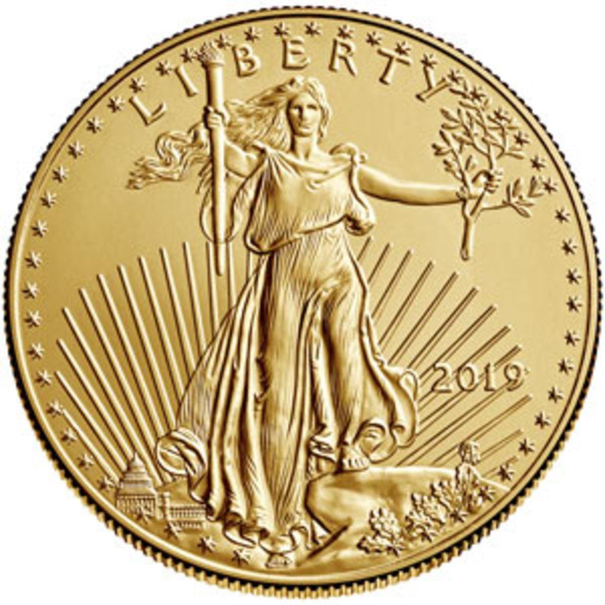 Gold bullion Eagle coin