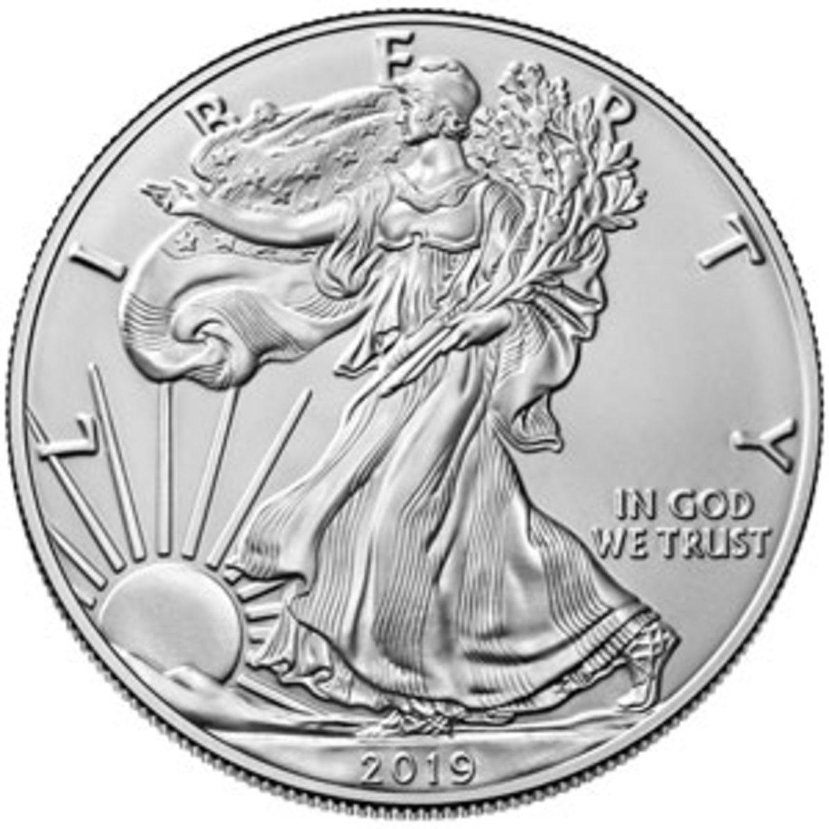 Silver bullion Eagle coin