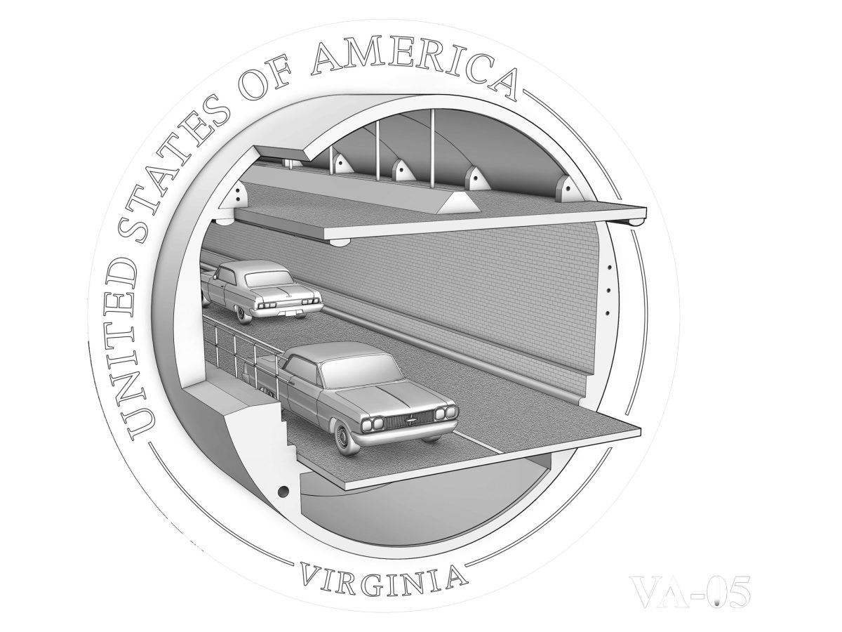 Recommended design for the 2021 Virginia American Innovation dollar.