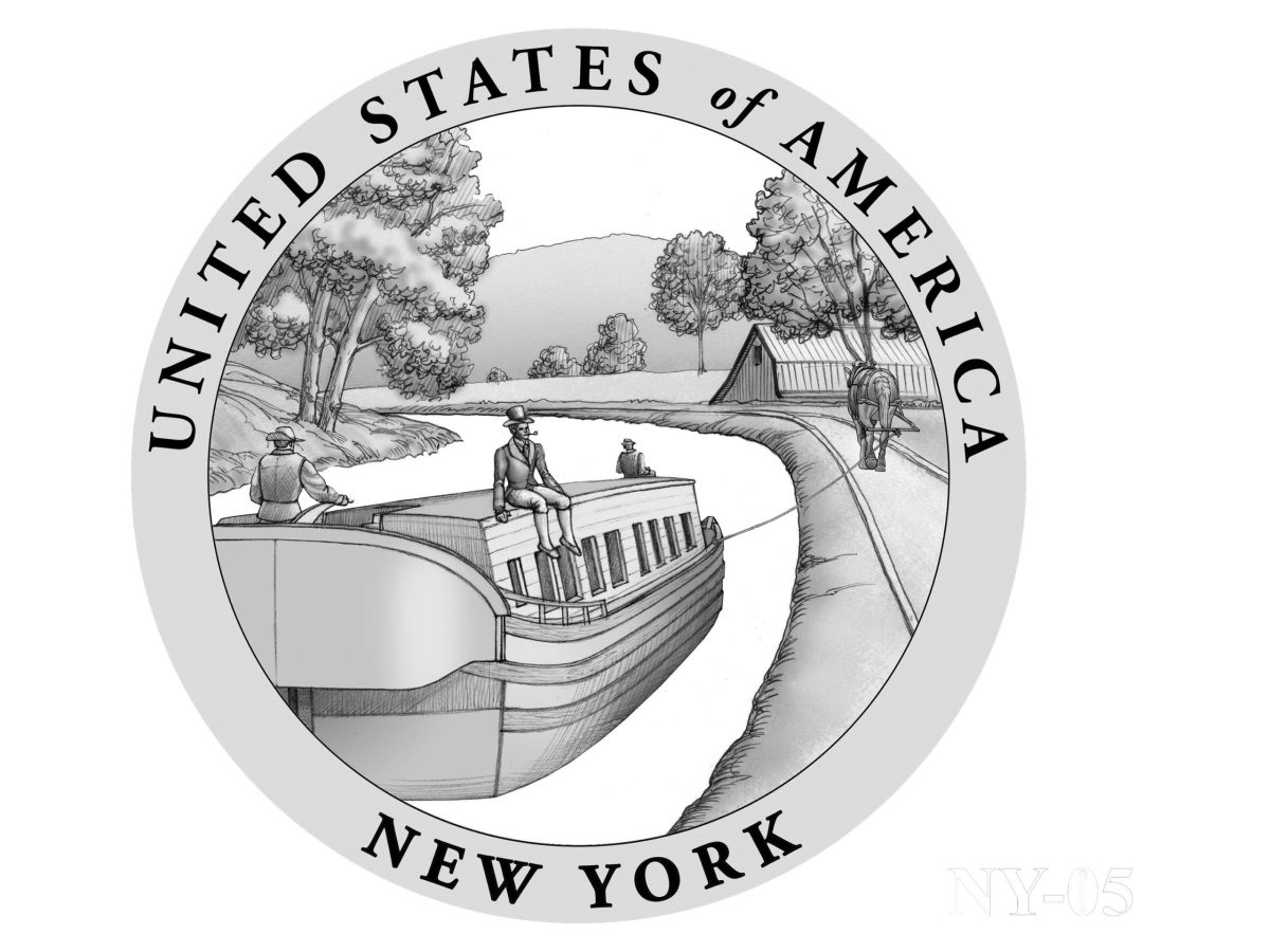 Recommended design for the 2021 New York American Innovation dollar.