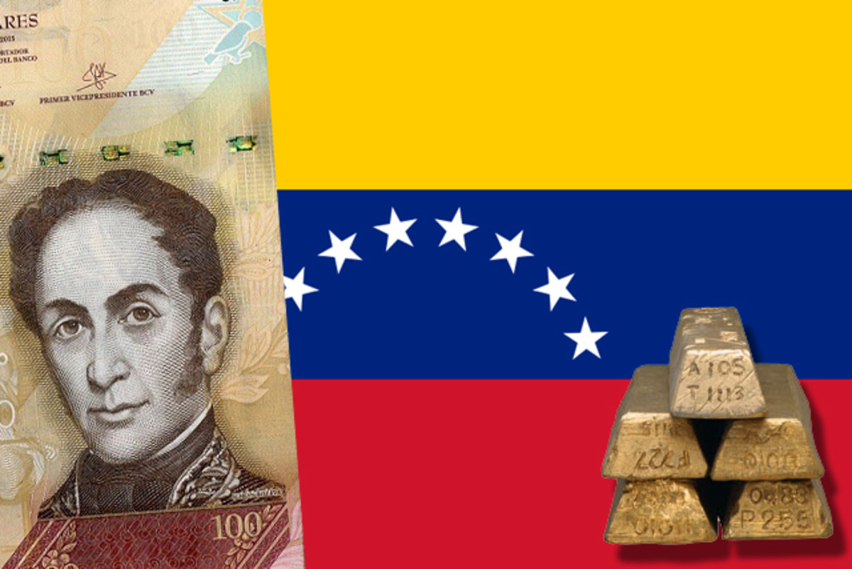Venezuela is facing a massive economic downturn that threatens the money supply, the gold supply and the government itself.