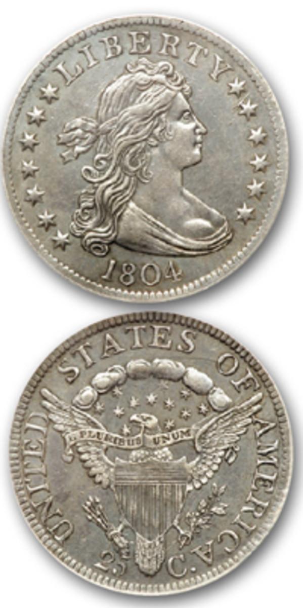 1804 quarter dollar. (Images courtesy of Goldberg)