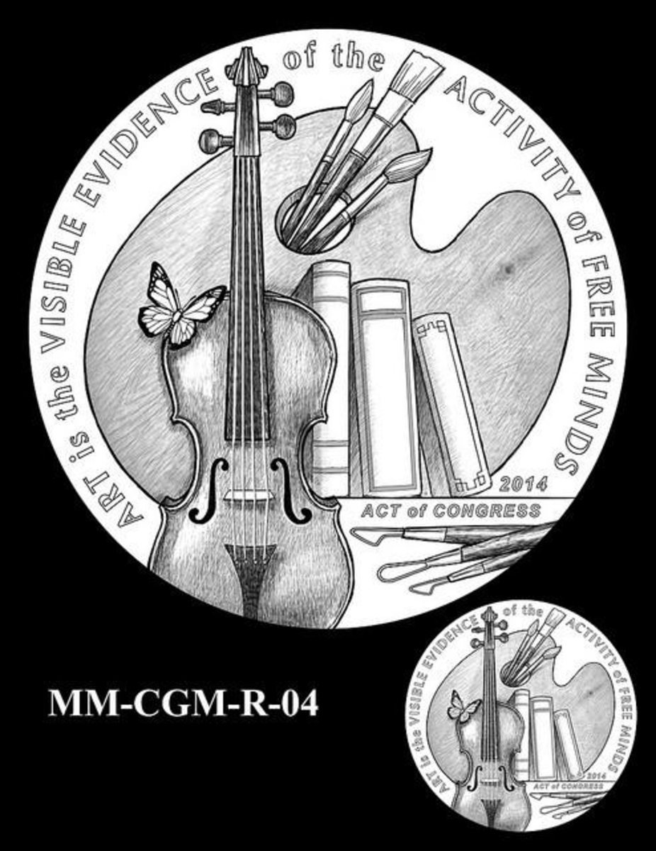 Marks considers the upcoming Monuments Men medal an especially beautiful design.
