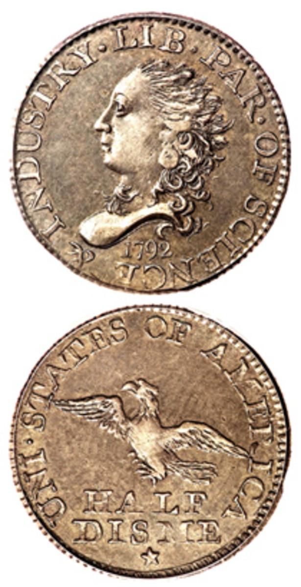 1792 half disme (Image courtesy Heritage)