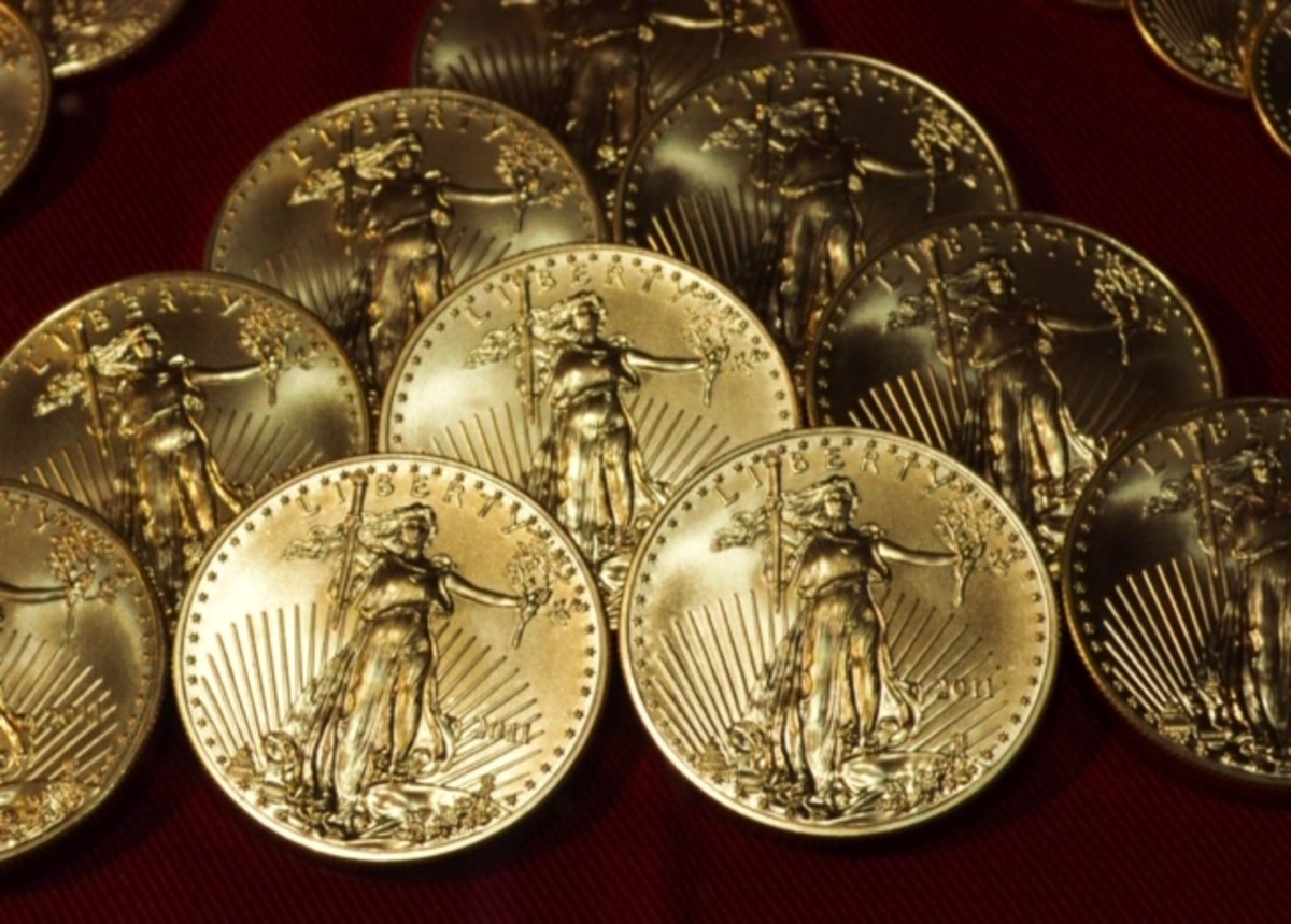 American Eagles gold coins small