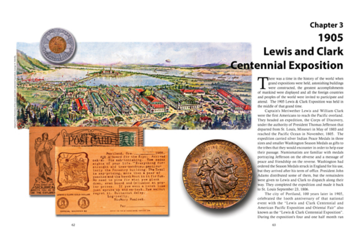 An interior spread of the new book features material from the 1905 Lewis and Clark Centennial Exposition.