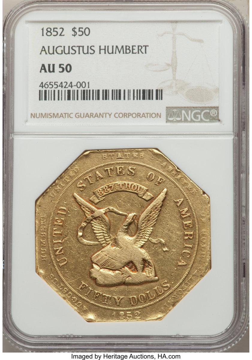 1852 $50 Gold Coin