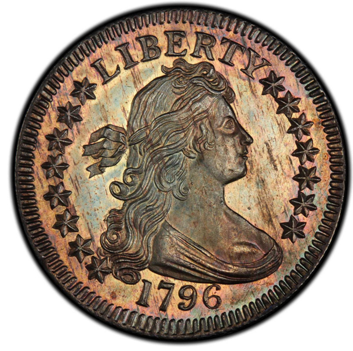 This 1796 Draped Bust quarter was sold for $1,527,500.