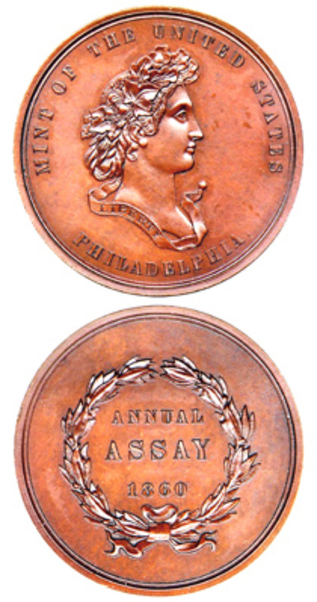 The first Assay Commission Medal was struck in 1860. (Photo courtesy Stack's Bowers)