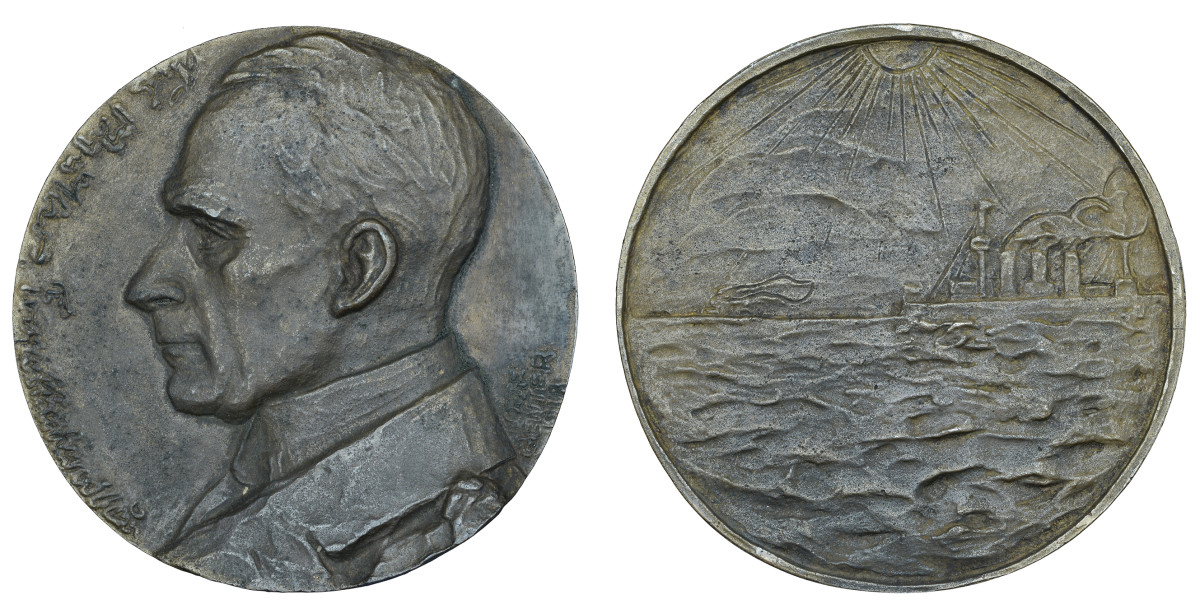 A medal was done of von Müller in 1917 by Danish sculptress Lotte Benter.