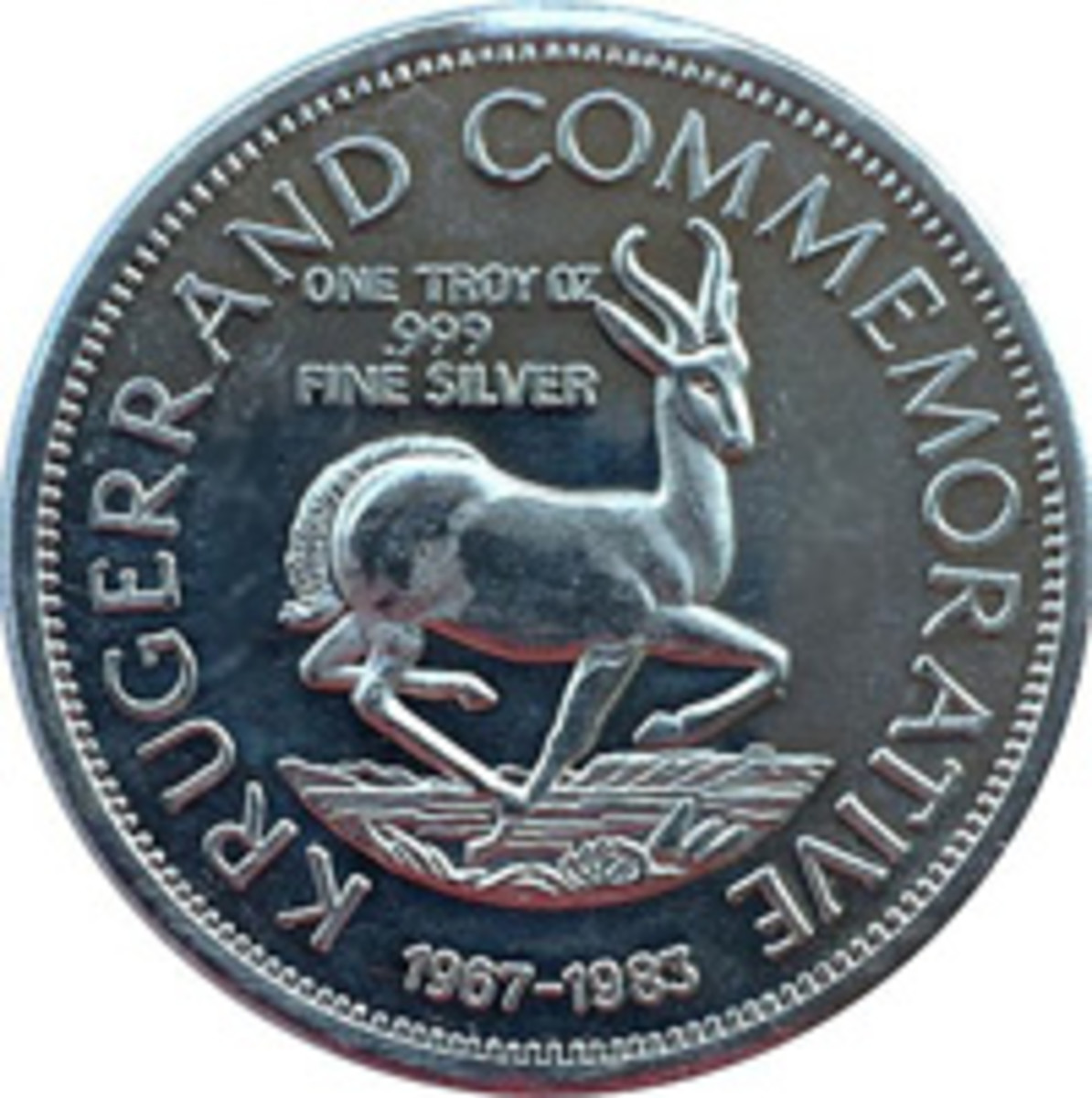 Not a Krugerrand and a breach of trademark. Privately made silver round not authorized by the South African Mint.