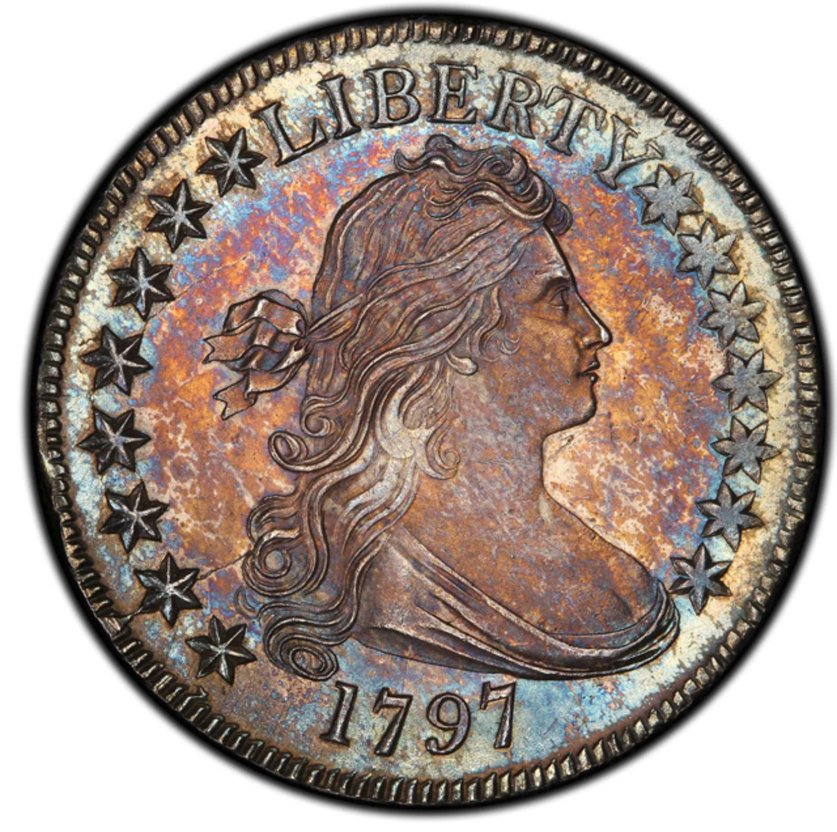 An MS-66 1797 Draped Bust half dollar also pulled in $1,527,500.