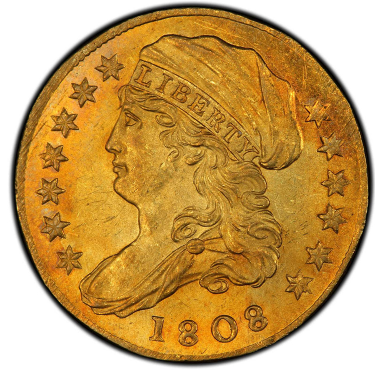 The star of the night was an MS-65 1808 Capped Bust Left quarter eagle that was purchased for 2,350,000.