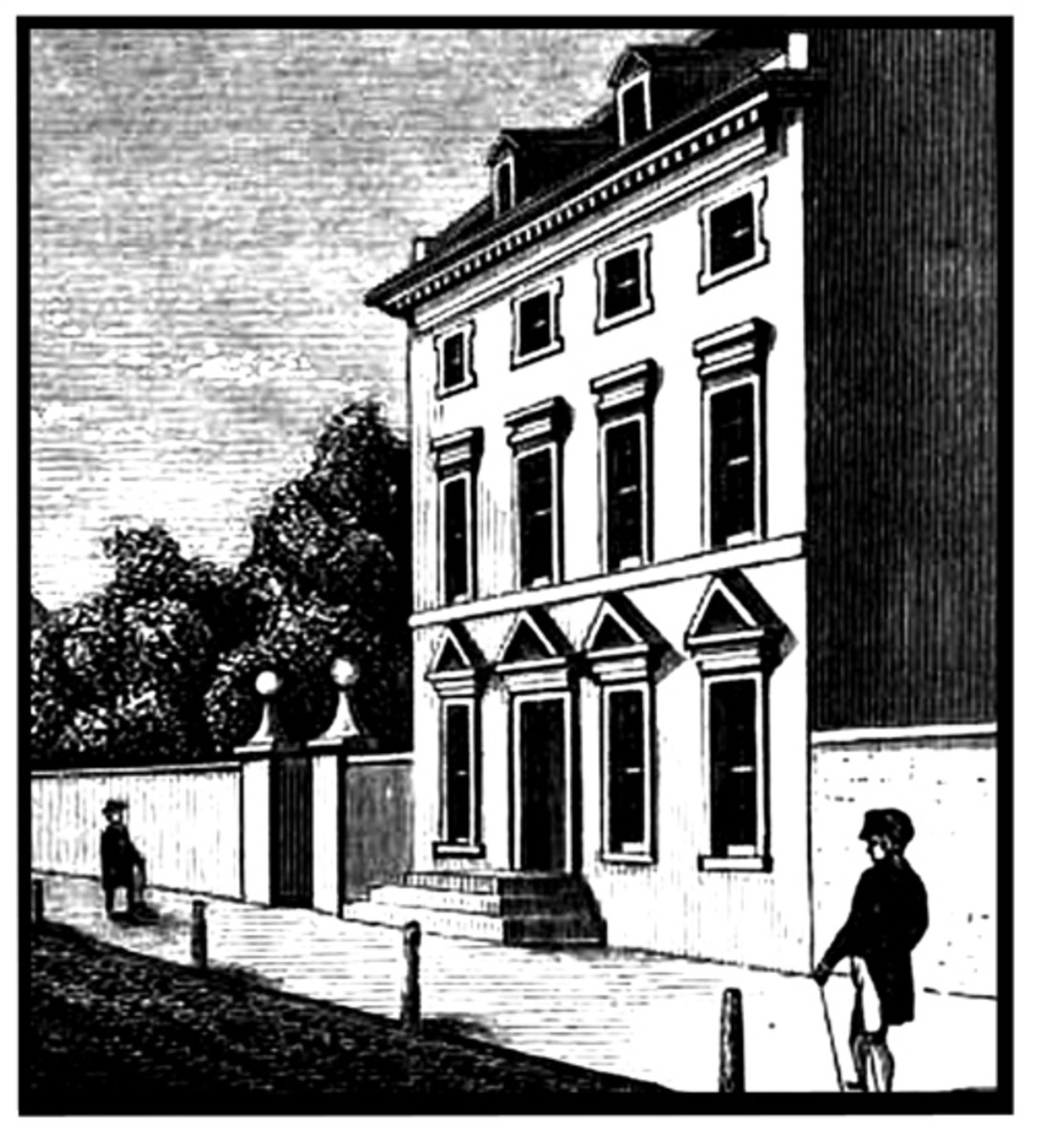 The President's residence in Philadelphia, then capital of the United States.