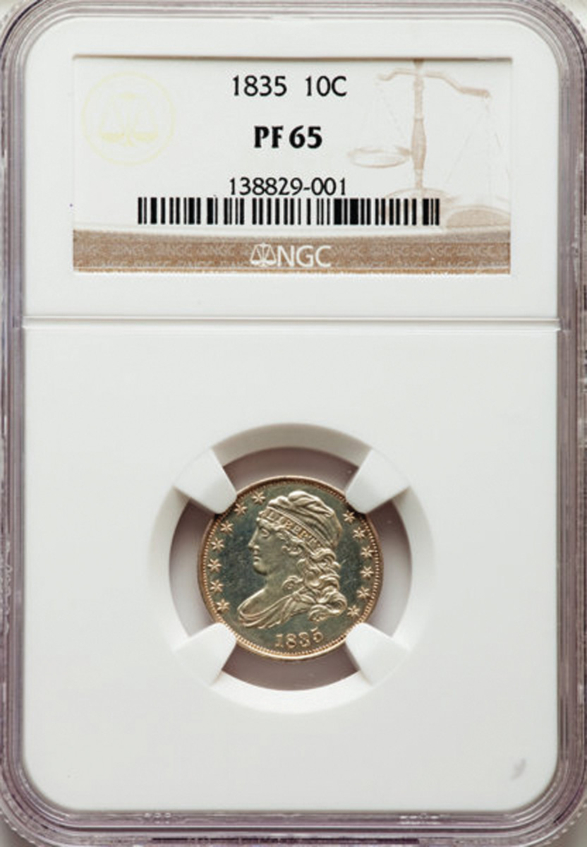 1835 Capped Liberty Dime