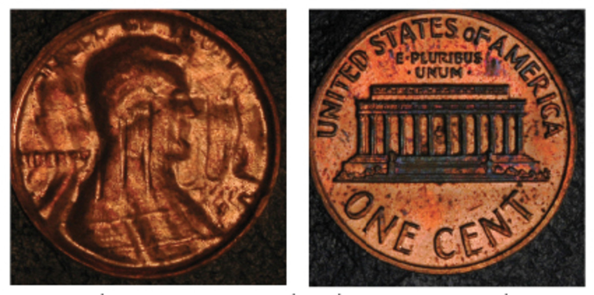 This is a Mid-Stage Brockage showing elements of both obverse and reverse on the obverse.