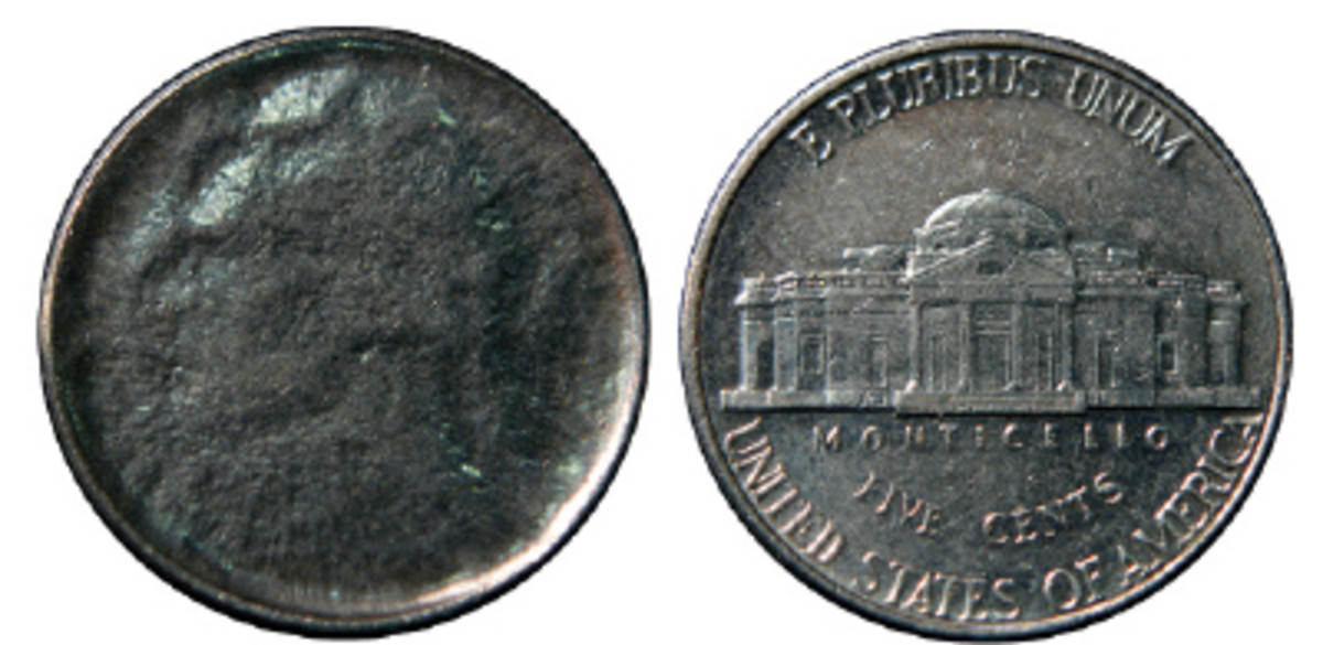 Bruce Hubbard's Capped Die Strike found in circulation is worth about $20. The reverse of a Capped Die Strike will be normal.