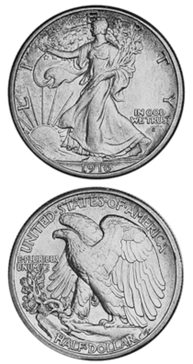 A new design, a relatively low mintage, and an obverse mintmark (later moved to the reverse) are factors that combine to lend collector interest to the 1916-S Walking Liberty half dollar.