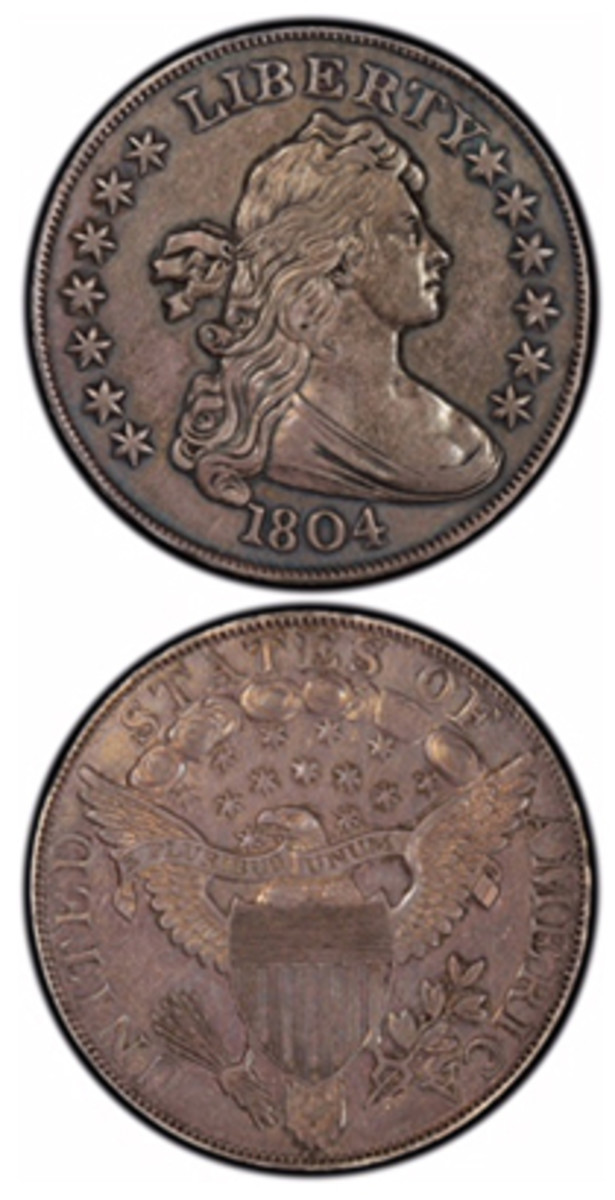 An 1804 dollar will be offered by Heritage Auctions at the firm's Long Beach Expo Signature sale, which will be held June 14-17.