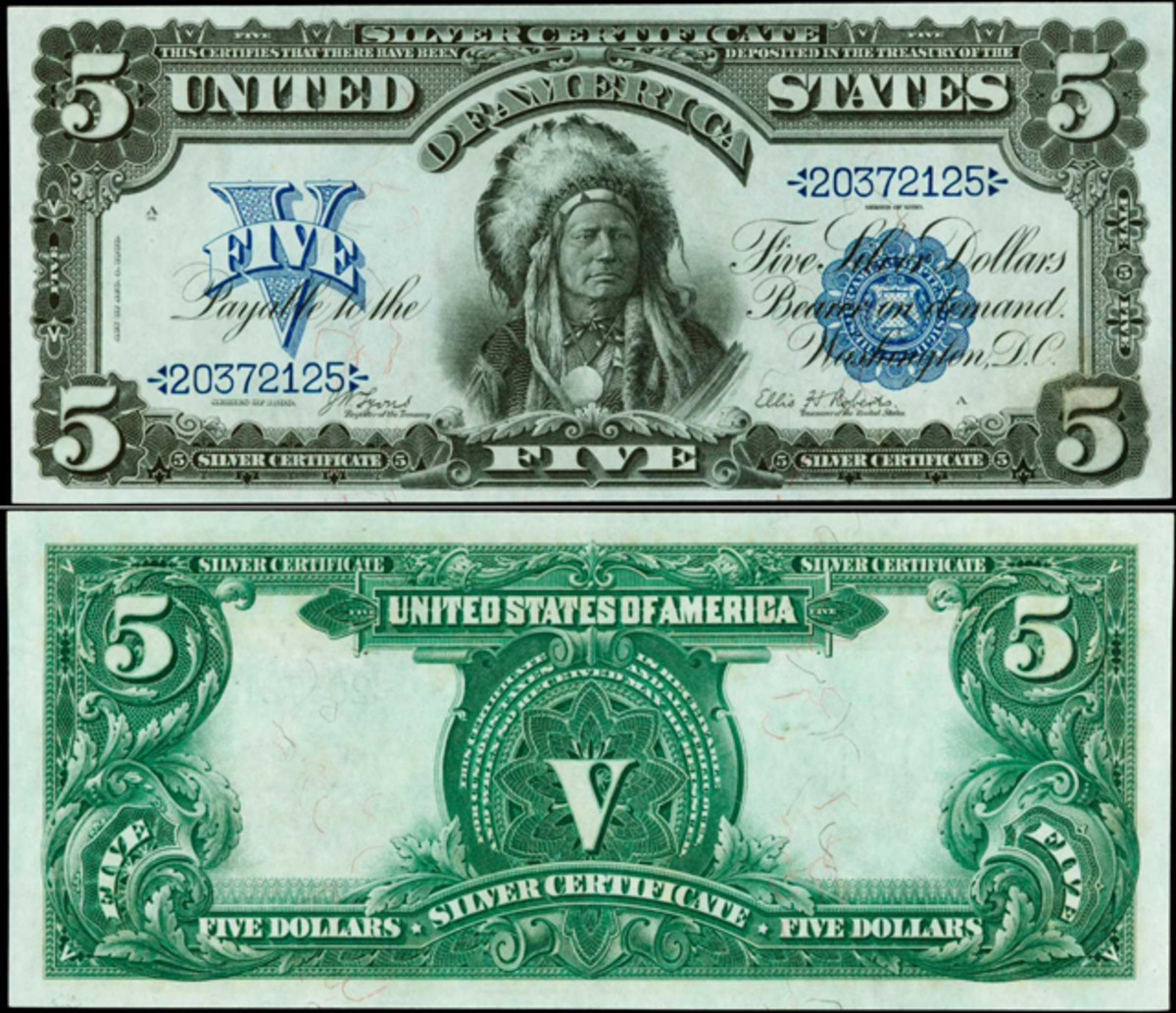 The finest PCGS-graded 1899 $5 Silver Certificate, Fr. 271, is being offered.