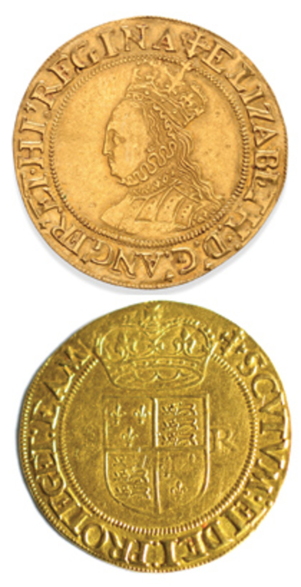 Obverse and reverse of the rare and attractive second issue half pound of Elizabeth I that was sold for $10,964 by Tennants in February. (Images courtesy Tennants Auctioneers)