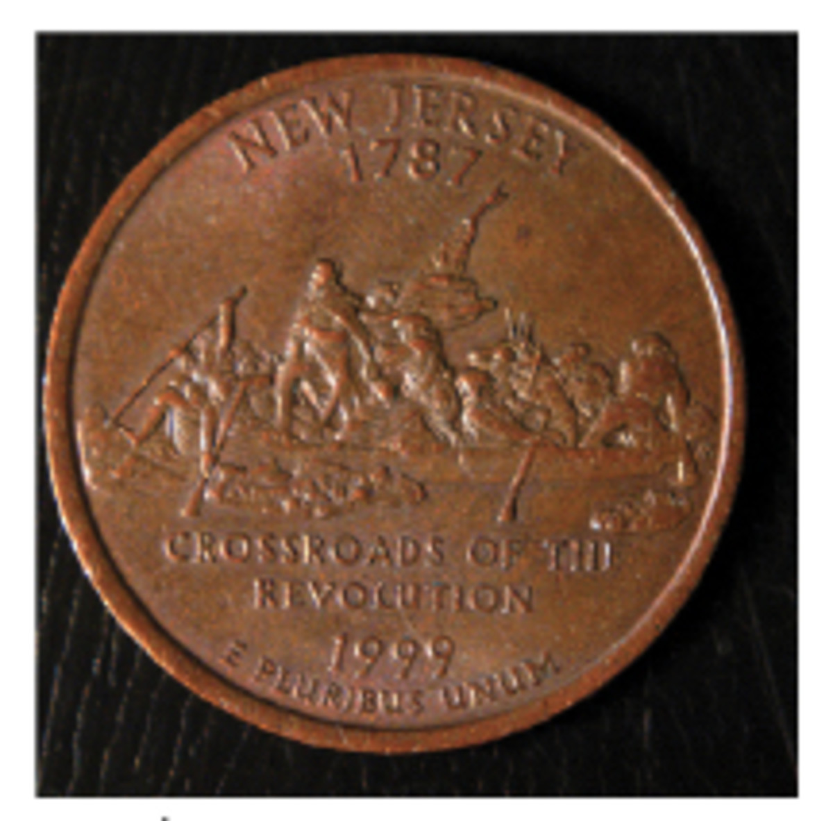 The outer silver-colored layer was missing when this New Jersey quarter was struck.