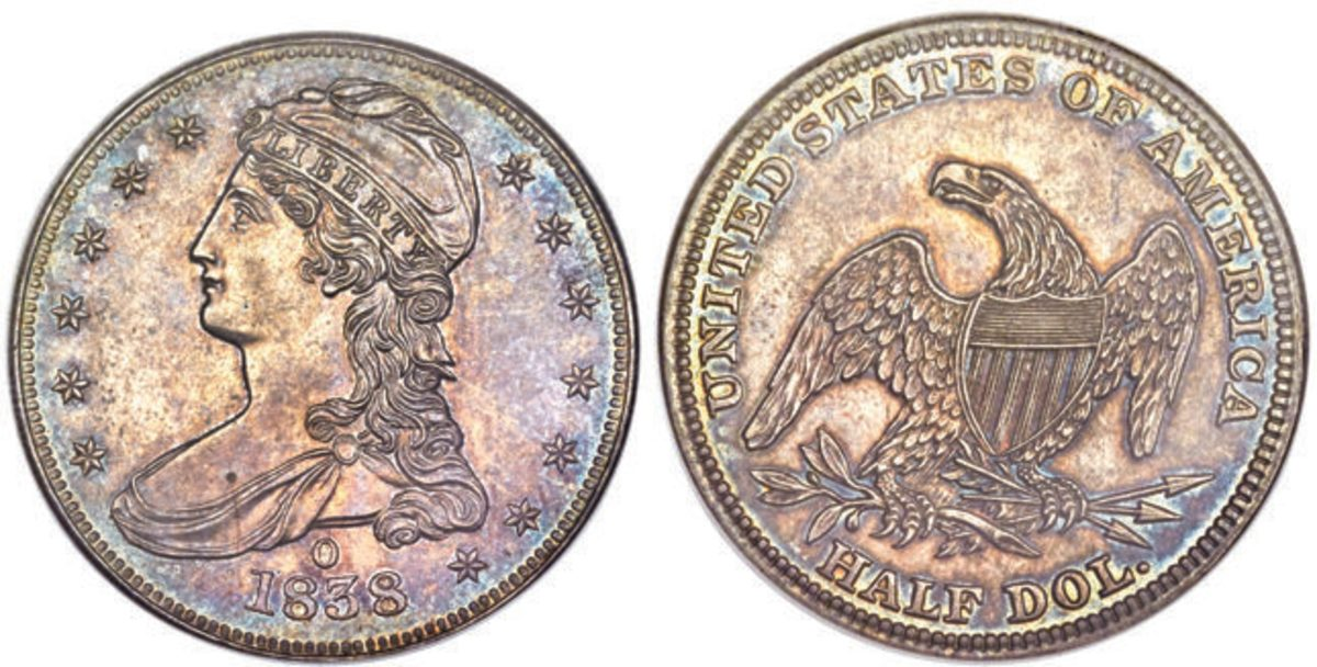 1838-O half dollar. (Images courtesy of Heritage Auctions.)