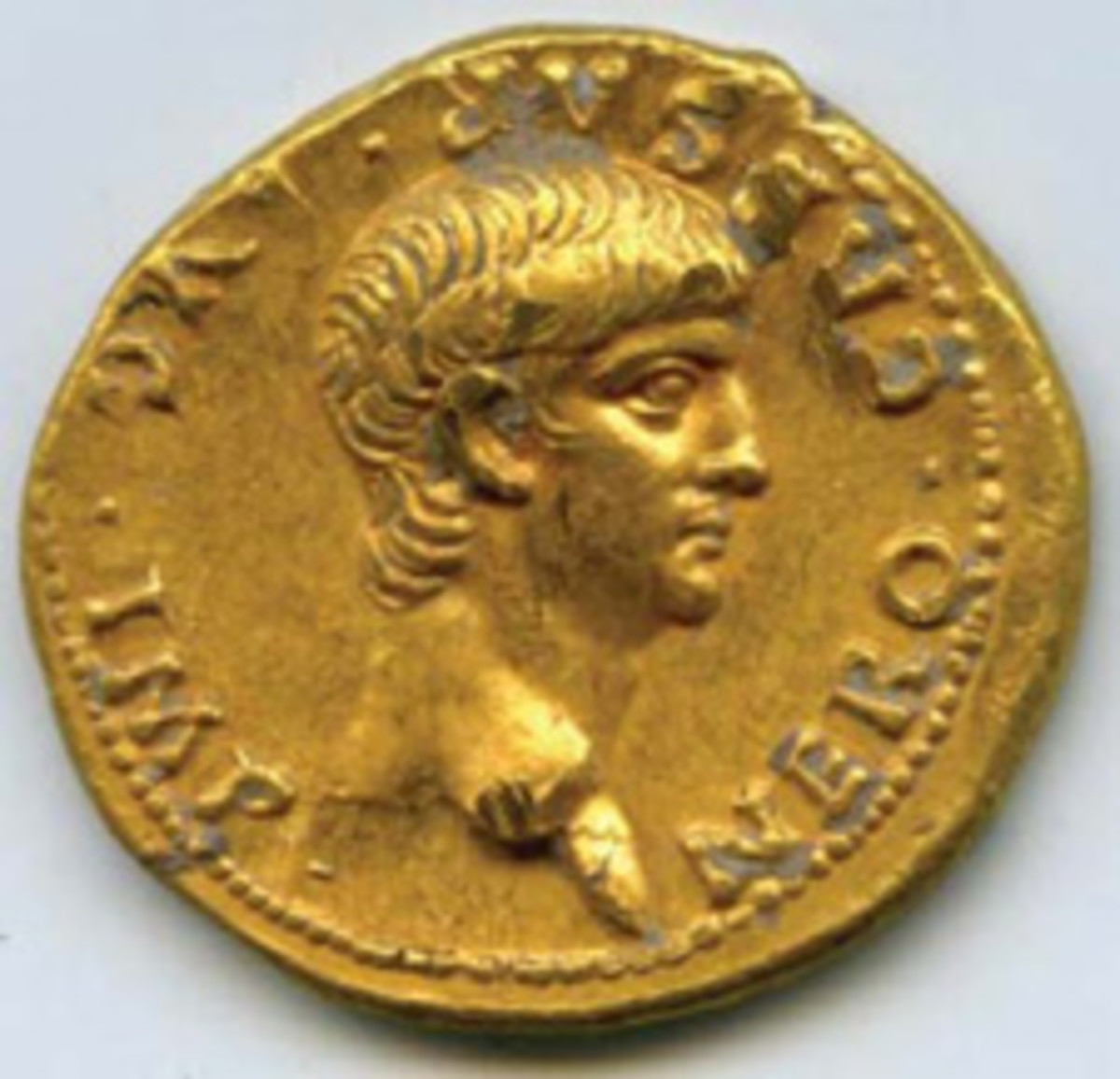 An ancient Roman gold aureus of the Emperor Nero was recently discovered at an archaeological site in Jerusalem.