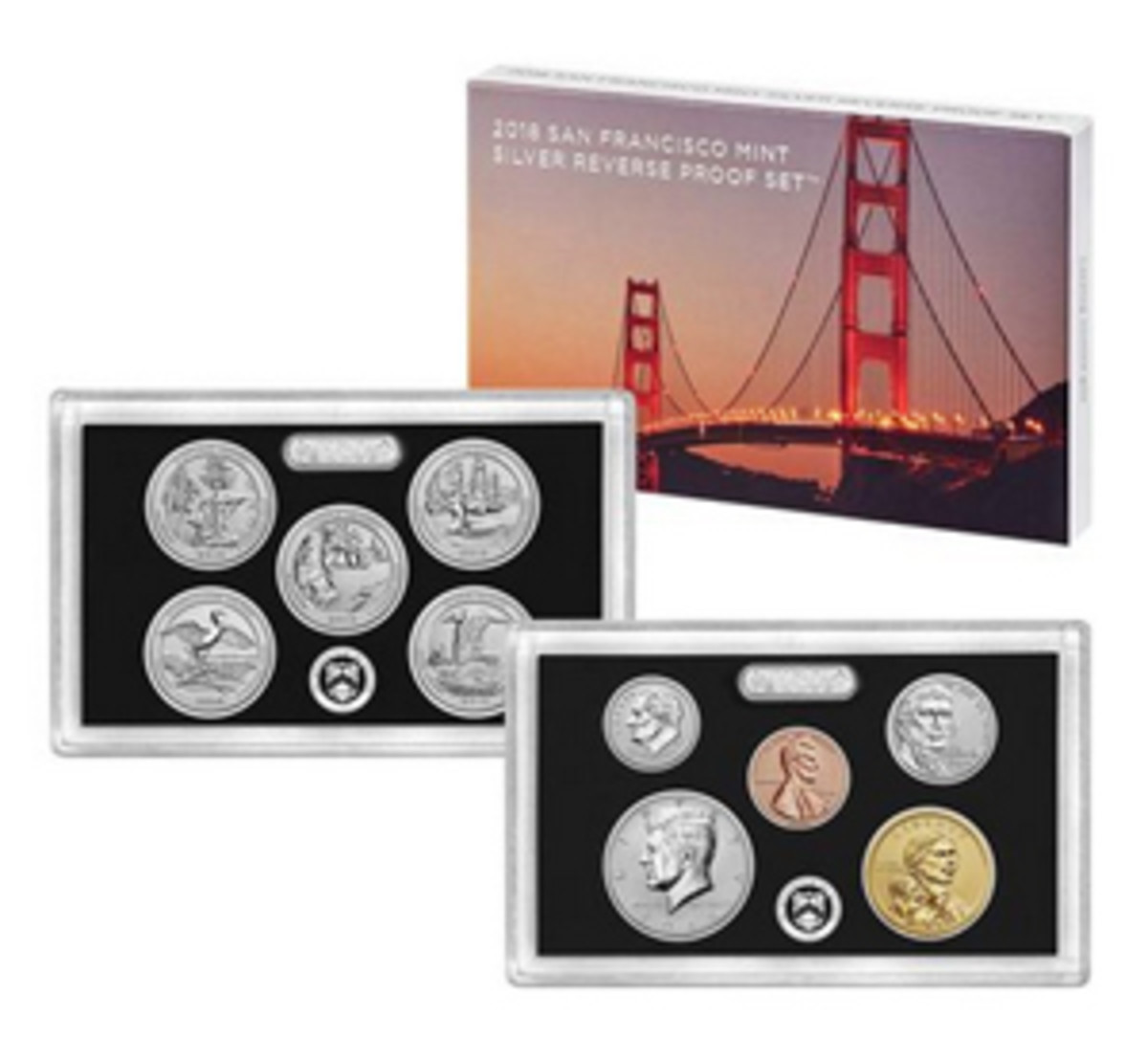 Some buyers were disappointed that the 2018 San Francisco Silver Reverse Proof Set did not sell out on the first day of sales July 23. (Image courtesy usmint.gov)