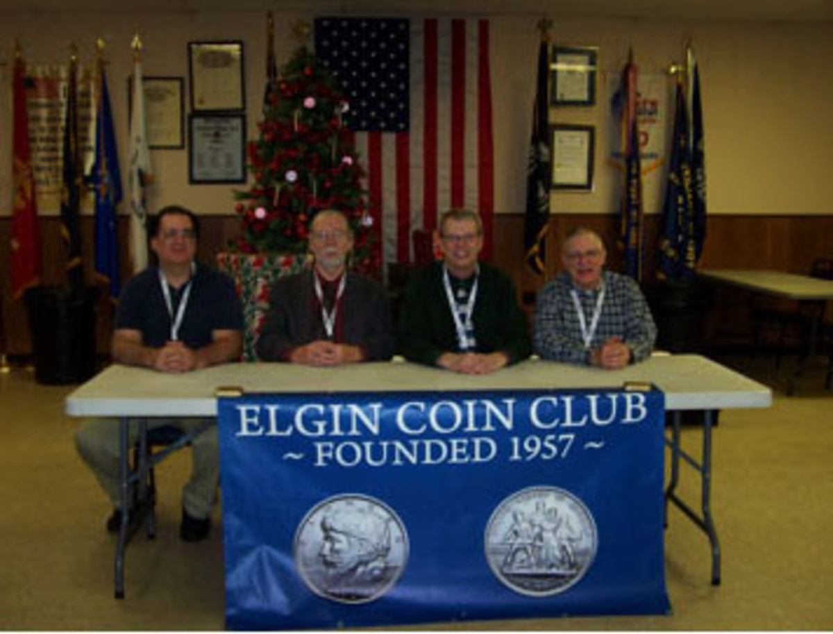 Elgin Coin Club officers