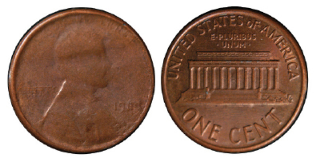 This is a 1983 cent struck from a very late die state Capped Die Strike. Because you can see the date it is proof it is an even later die stage than the nickel above.