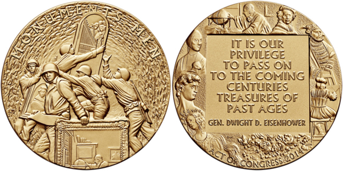 A Congressional Gold Medal was given Oct. 22 to the Monuments Men Foundation.