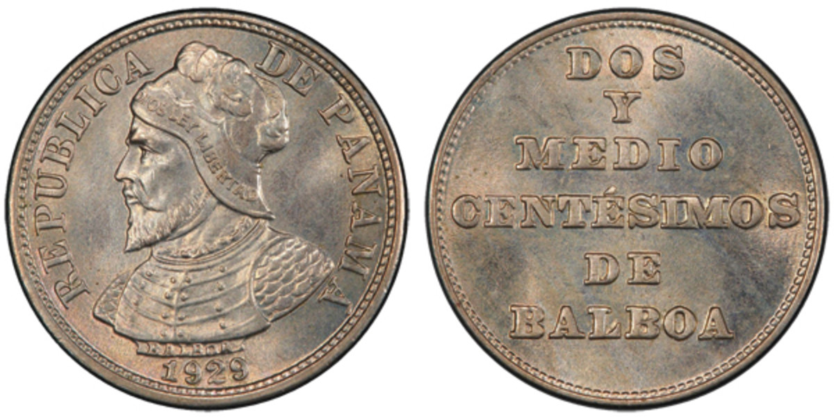 Early Panamanian coins in high grades always bring active buyers. This 2-1/2 centesimos of 1929 is the finest known example graded by either service at this time.